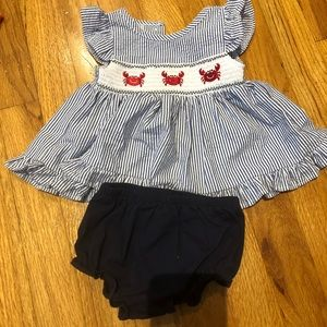 Crab dress with bloomers